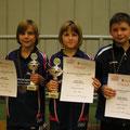 v.l.n.r. Marco Held, Celine Blum, Fabian Krause (Bezirksmeisterschaften Jugend  Oktober 2009)