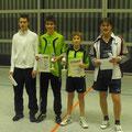 Die vier Erstplatzierten v.l.n.r. Lars Keppler (4.), Alexander Walz (3.), Mario Pachlhofer (1.) und Uli Graef (2.)