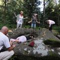 keltische Zeremonie am Druidenstein