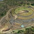 die Rund-Pyramide von Cuicuilco, war Teil der ersten Stadt im Valle de México, von 1000 a.Chr. an (vermutlich auch viel älter)