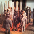 die berühmten Jade-Figürchen aus La Venta zeigen uns, wie die Olmeken aussahen: mit deformierten und verlängerten Köpfen (heute im Museo Nacional de Antropología, Mexiko Stadt)
