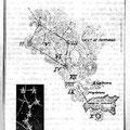 """Ignacio Ramirez, el """"Nigromante"""", fue el autor de un libro escolar con esta lámina de los cráteres del Valle de Santiago que muestra la Osa Mayor en correspondencia con las 7 Luminarias"""