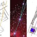 die Ausrichtung der 3 Pyramiden wird oft mit der von Gizeh in Ägypten verglichen (links) und Orion (rechts)