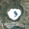 """Puerta interdimensional (""""reloj de tiempo"""") representando el cráter del Parangueo (así te ven cuando dormimos ahí jejeje)"""