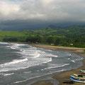 an diesem unberührten Strand von Montepio werden wir übernachten...