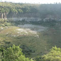 """Cráter La Alberca, donde todavía nadaba el """"Chan"""" como dicen los ancianos"""