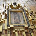 la imagen de la Virgen de Guadelupe, en el Cerro del Tepeyac