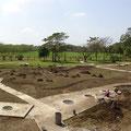 Modell welches die Siedlung der Olmeken in Tres Zapotes darstellt (Museum)