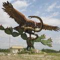 Los pueblos nahuas recibieron la visión de encontrar el águila que devora la serpiente