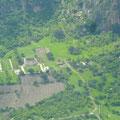 Chalcatzingo desde la vista aérea