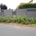 Bau eines WPC Sichtschutzzaunes mit Metall / Trigon Dekorelementen von GreenFairway e.K.