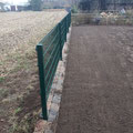 Zaunbau, Rasenkante bauen, Rollrasen - hier vorbereitende Arbeiten für den Rollrasen von GreenFairway e.K.