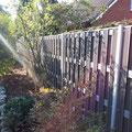 fertiggestellter WPC Zaun von Traumgarten - Bau durch GreenFairway e.K.