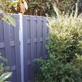 WPC Sichtschutz Zaun inkl. Aluminiumpfosten und Abdeckschiene aus Aluminium von GreenFairway e.K.