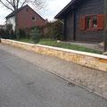 Bau einer Natursteinmauer als Grundstücksbegrenzung inkl. aller vorbereitenden Arbeiten von GreenFairway e.K.