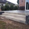 Treppenbau, Anlage aus Betonblockstufen von GreenFairway e.K.