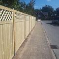 Bau von Sichtschutzaun aus Holz von GreenFairway e.K.