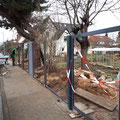 Bau eines Sichtschutzzaunes, Zaunbau von GreenFairway e.K.
