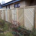 Bau von Zaunsichtschutz in Hannover, Burgwedel, Burgdorf, Isernhagen aus Holz von GreenFairway e.K.