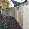 Bau eines Sichtschutzzaunes mit Kasetten aus Schieferplatten von GreenFairway e.K.