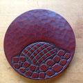 鎌倉彫 紫陽花の土瓶敷き