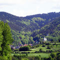 Rauenstein mit Kirche und Burgruine
