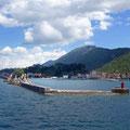 Einfahrt in den  Hafen Trpanj auf Peljesac