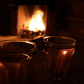 Abendliche Kaminrunde mit Tee, Feynan Eco Lodge