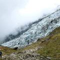 Am Glacier des Bossons auf der Wanderung zur La Jonction