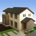 戸建住宅模型 S:1/100