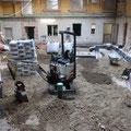 Bodenarbeiten im Untergeschoss
