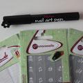 Nail Art Pen de Sally Hansen et les pochoirs de la marque Personnelle.