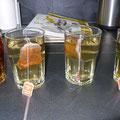 Tee Glas Gläser Teebeutel