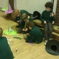 Scouts enjoy making halloween masks and novelty items