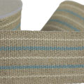 linenribbon with blue-white stripes