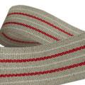 Leinen mit rot-weißen Streifen
