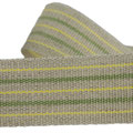 linenribbon with yello-green stripes