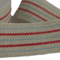 linenribbon with blue-red stripes