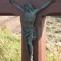 Der bronzene Corpus des Paalskreuz