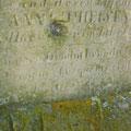 Die verwitterte lateinische Inschrift