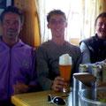 Mit Leo Draschl und Kurz Michael in der Filmoorhütte