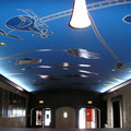Evolutionary Kinetic Status Report in the Key of Blue, mural, 20'x50' approx., 2005