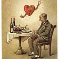 Heinz Geilfus HerzPostkarte Nr. 5 -- Hörst du mein heimliches Rufen!