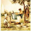 Postkarte 2251 mit einem Motiv vom Bad Nauheimer Maler Heinz Geilfus aus dem Besitz von Galeristin und Referentin Anne Marie Mörler, Galerie Remise in Bad Nauheim