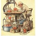 Heinz Geilfus Herz-Postkarte Nr. 2 -- Hetze nicht und laß dir Zeit, sonst fehlt es bei dir auch so weit!