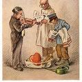 Heinz Geilfus Herz-Postkarte Nr. 4 -- Leise flehen meine Lieder, liebes Herz erhol' dich wieder!