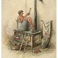 Heinz Geilfus Herz-Postkarte Nr. 14 -- Ist ein Kurort Dir zu teuer, mach es so, wie der Herr Meier!