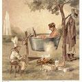 Heinz Geilfus Herz-Postkarte Nr. 6 -- Macht es dir nicht zuviel Müh, treib so Wassertherapie!