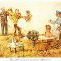 Postkarte 2311 mit einem Motiv vom Bad Nauheimer Maler Heinz Geilfus aus dem Besitz von Galeristin und Referentin Anne Marie Mörler, Galerie Remise in Bad Nauheim