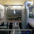 Ovag-Exkursion mit Thomas Staller am 30.05.2014, Foto: Übergabestation des Trinkwassers im Ovag-Wasserwerk Inheiden